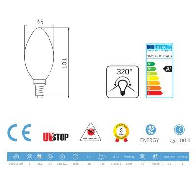 Light bulb Led Olive 4W E14