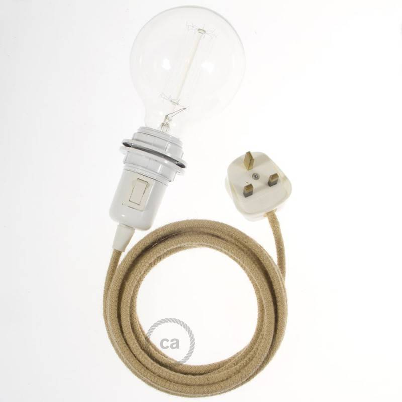 Create your RN06 Jute Snake for lampshade and bring the light wherever you want.