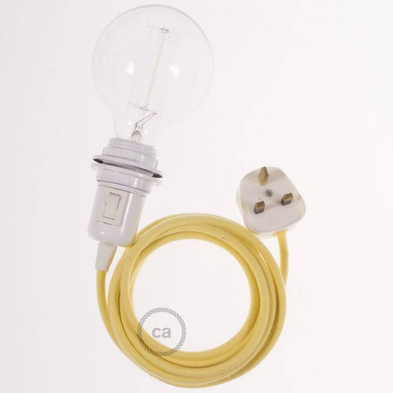 Create your RC10 Pale Yellow Cotton Snake for lampshade and bring the light wherever you want.