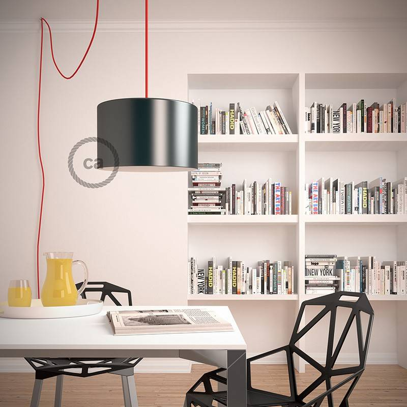 Create your RD74 ZigZag Anthracite Snake for lampshade and bring the light wherever you want.