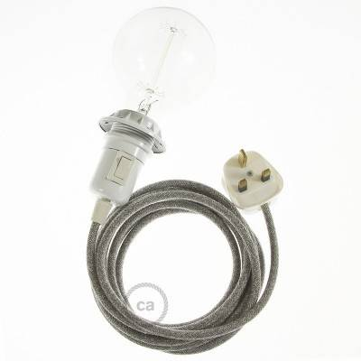 Create your RN02 Grey Natural Linen Snake for lampshade and bring the light wherever you want.