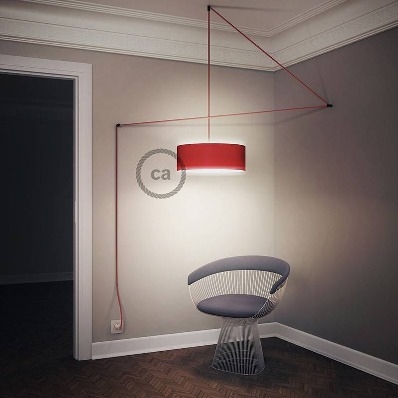 Create your RS83 Red Glittering Natural Linen Snake for lampshade and bring the light wherever you want.