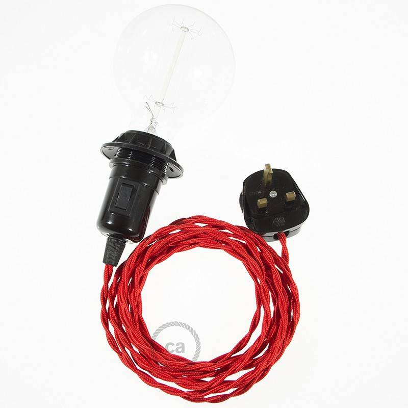 Create your TM09 Red Rayon Snake for lampshade and bring the light wherever you want.