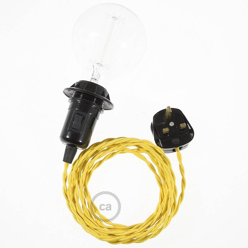 Create your TM10 Yellow Rayon Snake for lampshade and bring the light wherever you want.