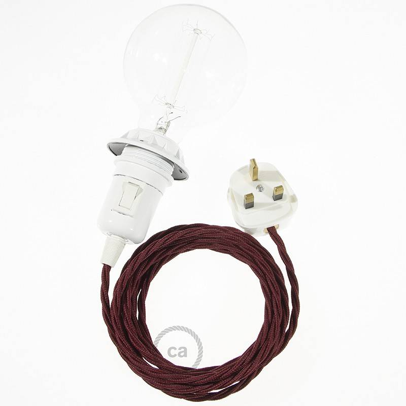 Create your TM19 Burgundy Rayon Snake for lampshade and bring the light wherever you want.