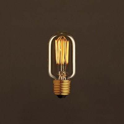 Vintage Golden Light Bulb Valve T45 Carbon Filament Cage 30W E27 Dimmable 2000K