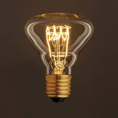 Vintage Golden Light Bulb BR95 Carbon Filament Spiral Curve Horizontal 30W E27 Dimmable 2000K