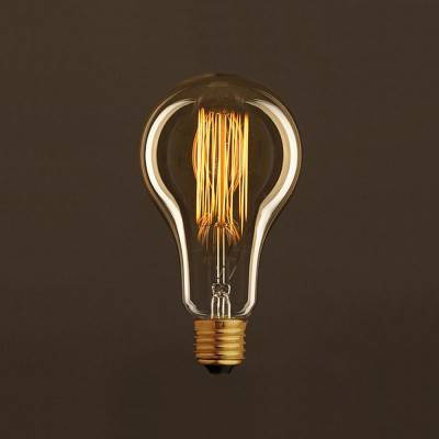 Vintage Golden Light Bulb Drop A95 Carbon Filament Cage 25W E27 Dimmable 2000K
