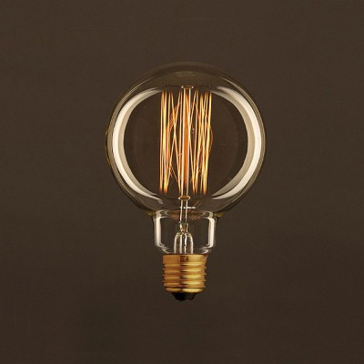 Vintage Golden Light Bulb Globe G95 Carbon Filament Cage 25W E27 Dimmable 2000K
