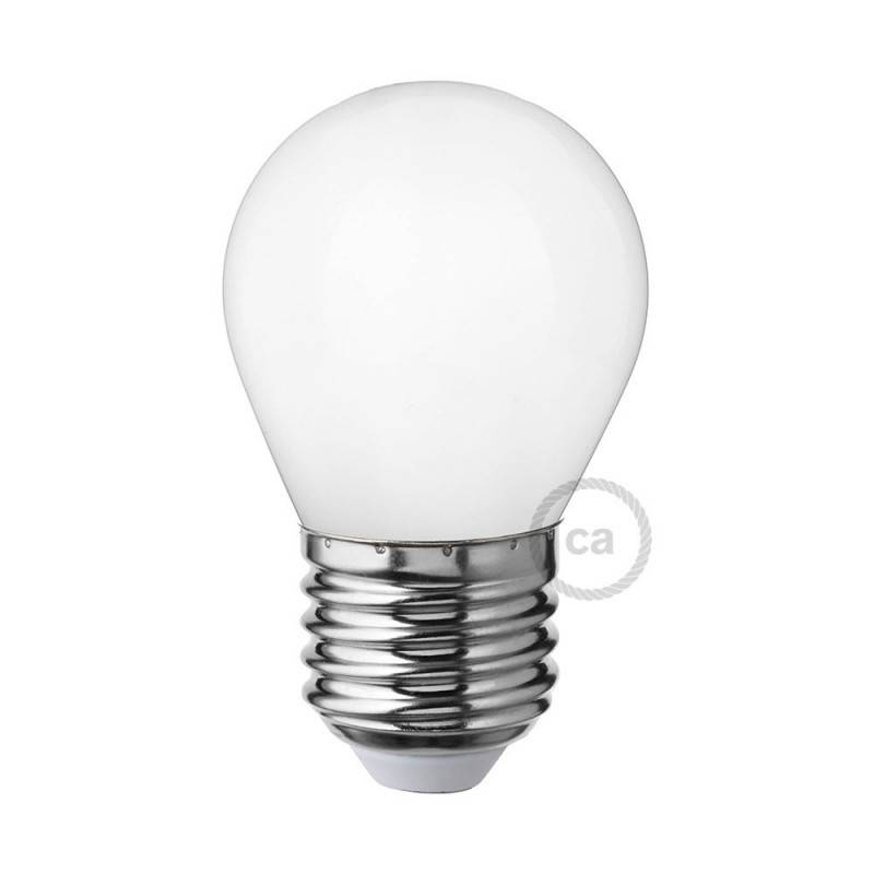 led milky white light bulb miniglobe g45 4w e27 dimmable 2700k. Black Bedroom Furniture Sets. Home Design Ideas