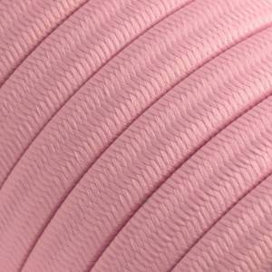 Electric cable for String Lights, covered by Rayon fabric Baby Pink CM16