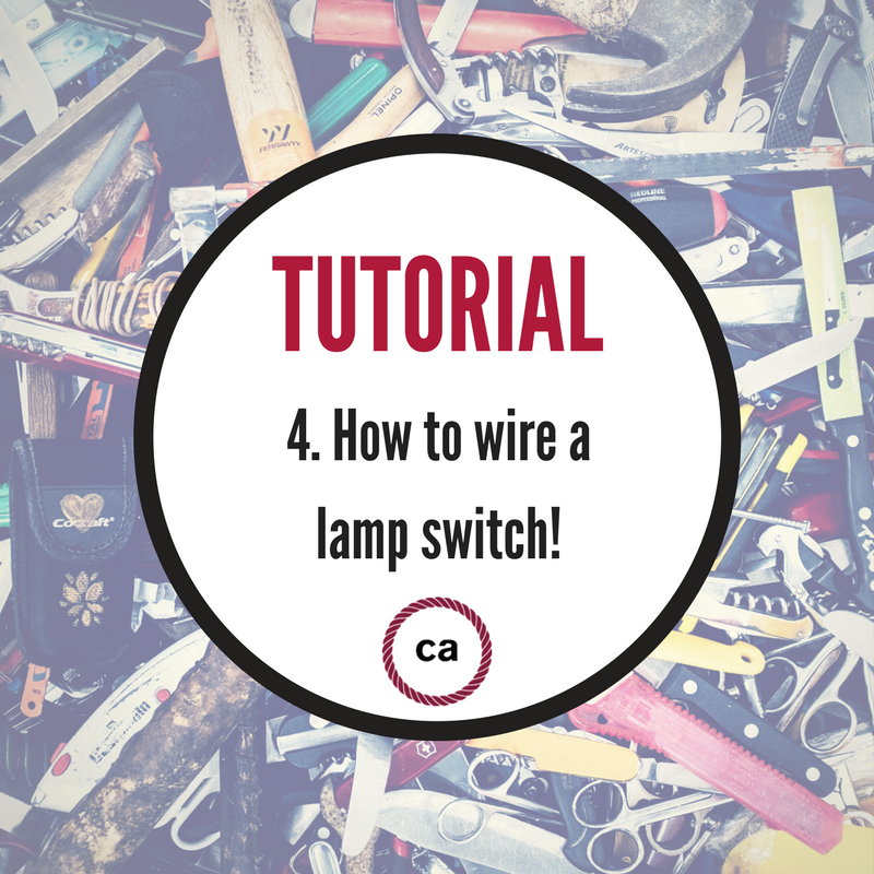 Tutorial 4 how to wire a lamp switch creative cables united our fourth tutorial is all about wiring up the switch of a bedside table lamp after our first three tutorials this last one will complete all the steps to greentooth Choice Image